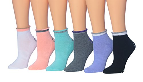 Ronnox Women's 6-Pairs Yoga Barre Socks Non-Slip Pilates Yoga Socks, (sock size 9-11) Fits shoe size 5-9, RY01-A from RONNOX