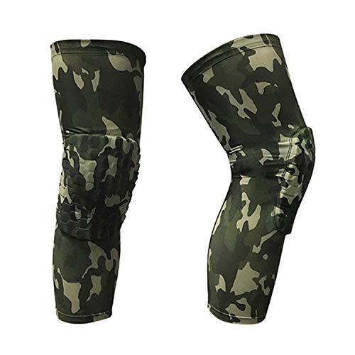 fc5517b85d 2 pc Speedcross Knee Brace Sports Kneepad Compression Socks Protection  Scotch Camo Knee Pad,Army Green,L