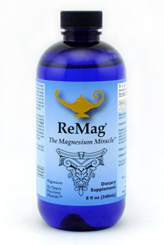 ReMag Pico-Ionic Liquid Magnesium by RnA ReSet. Formulated by Dr. Carolyn Dean for Complete Absorption. Experience The Magnesium Miracle. 8 fl oz (Caps Fruit 400 100 Mg)