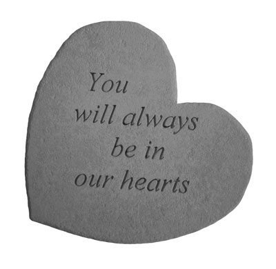 Cheap You Will Always Be In Our Hearts Heart Shaped Memorial Stone