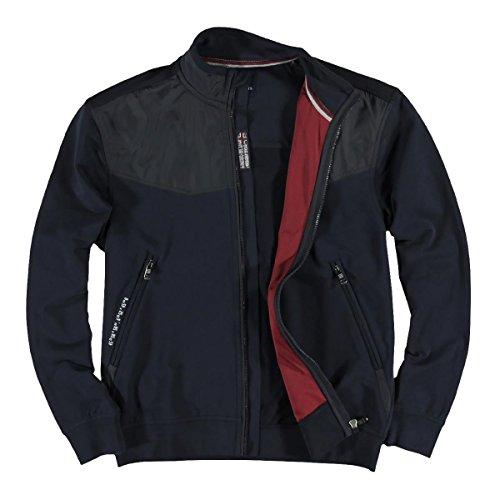 engbers Herren Sweatshirtjacke im sportiven Design, 23873, Blau