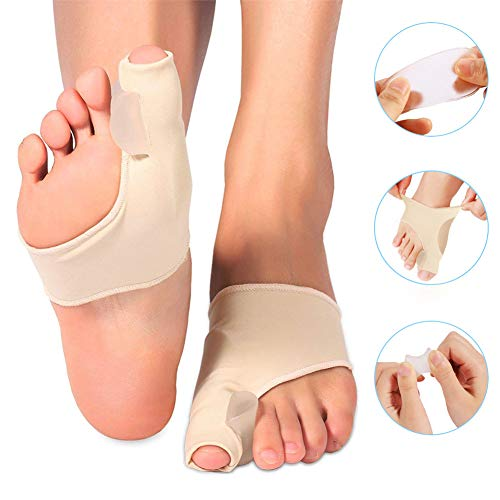 Doact Bunion Corrector Sleeve for Bunion Protector and Pain Relief, Orthopedic Gel Bunion Pad for Women Men Toe Splint Support for Hallux Valgus, Hammer Toes