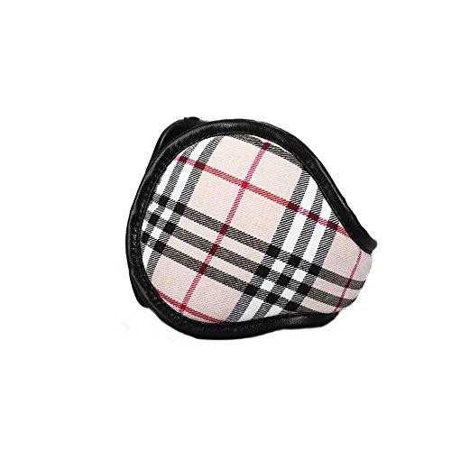 Classic Fleece Earmuffs Foldable Ear Muffs Winter Accessory Outdoor EarMuffs Grid