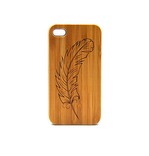 Krezy Case Real Wood iPhone 6 Plus Case, Feather iPhone 6 Plus Case, eyes iPhone 6 Plus Case, Wood iPhone Case,