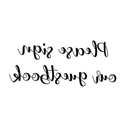 Mikash Please Sign Our GUESTBOOK 10 x 4 Vinyl Decal Sticker - V1 - Wedding | Model WDDNGDCRTN - 28941 | ()