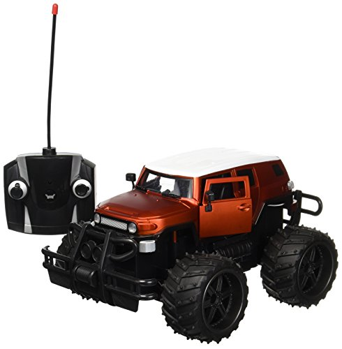 FJ Cruiser Cross Country 1:14 Scale Battery Operated Remote Controlled 4WD 2.4 GHz Toy RC Jeep Truck w/ Remote Control,& Door Opening Action