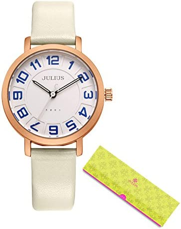 97c8091fdd0 Buy Julius Watches Women s Dress Ultra Thin Round Leather Relogio Ja-939  White Online at Low Prices in India - Amazon.in