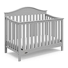 Boasting transitional style with a touch of nautical flare, the Graco Harbor Lights 4-in-1 Convertible Crib creates a cozy sleep environment that you and your baby will both love. Featuring a uniquely designed headboard, the stunning Harbor L...