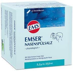 Emser Nasensp/ülsalz Spar-Set 2x50 Btl Zur gr/ündlichen Reinigung Ihrer Nase mit nat/ürlichem Emser Salz und Mineralien.