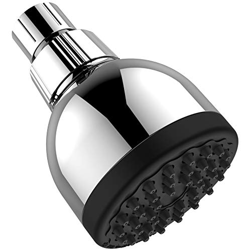 (SAB High-Pressure Shower Head-Ultimate Shower Experience-Perfect for Any Water Pressure-Assembled-3-Inch-42 Jet Nozzles-Chrome-Safe-Adjustable-Simple Screw on Installation)