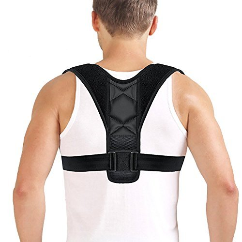 TALLPLUS Posture Corrector Support Brace for Women & Men, Figure 8 Shaped Designed for Your Upper Back, Helps to Improve Posture, Prevent Slouching(28'' - 43'', Black) by TALLPLUS