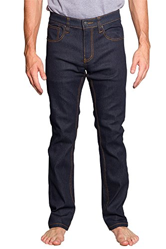 Victorious Mens Slim Fit Unwashed Raw Denim Jeans DL980