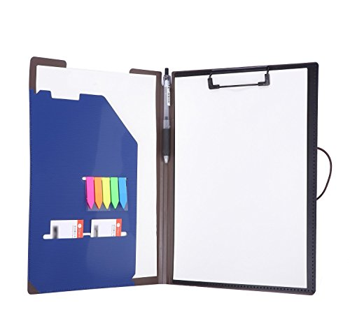 Padfolio Clipboard Folder File Portfoilio for Conference Document 8.5 x 11 Writing Pad Oragnizer Office by Mymazn