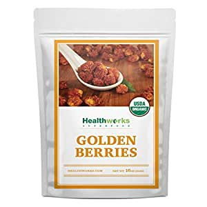 Healthworks Golden Berries (16 Ounces / 1 Pound) | Raw | Certified Organic & Sun-Dried | Gooseberries | Keto, Vegan & Non-GMO | Salads & Smoothies | Antioxidant Superfood