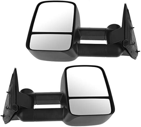 Towing Black Manual Side Mirrors Left Right Pair Set for Chevy GMC ...