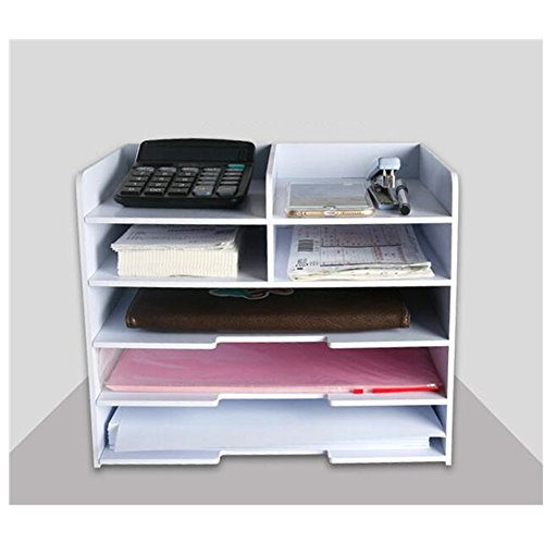 Gobuy Desktop Document A4/A5 Rack Wooden DIY Office Supplier Book File Pencil Organizer