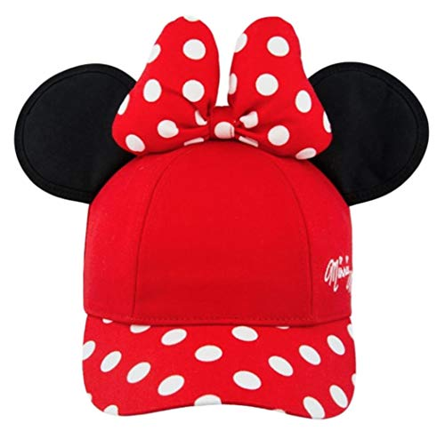 Minnie Mouse Polka Dot Baseball Cap - Red with Black Ears