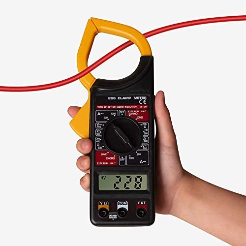 Battery Powered AC DC Volt Measure Multimeter LCD Clamp Meter Tester Current Ohm Diode and Instrument Tool Portable Electrical Testing Voltage Testers Baibao