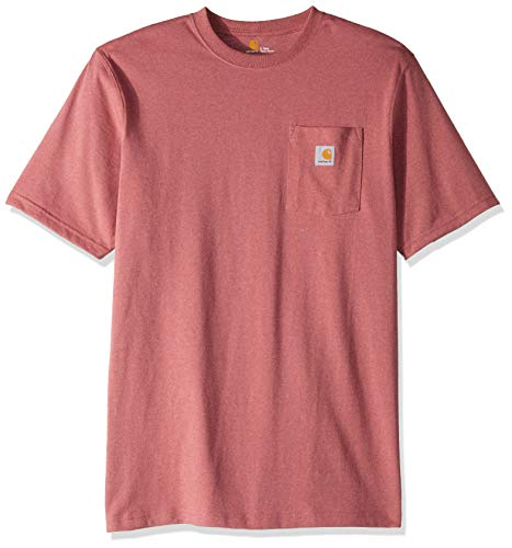 Carhartt Men's Big and Tall K87 Workwear Pocket Short Sleeve T-Shirt (Regular and Big & Tall Sizes), Brick dust Heather, 3X-Large