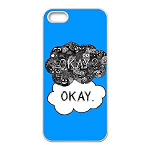 QQQO The Fault in Our Stars Okay? Okay Printed Cell Phone Case for Iphone 5s