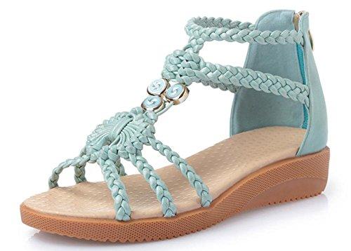Xia Jiping con sandalias del ms zapatos de suela blanda estudiante days blue