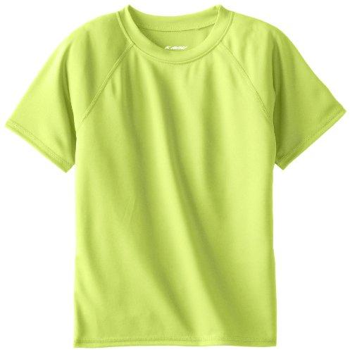 (Kanu Surf Toddler Boys' Short Sleeve UPF 50+ Rashguard Swim Shirt, Solid Lime, 2T)