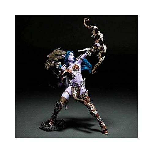 QAZSDF World of Warcraft Night Elf Hand Souvenir Birthday Gift Collection Display Cabinet