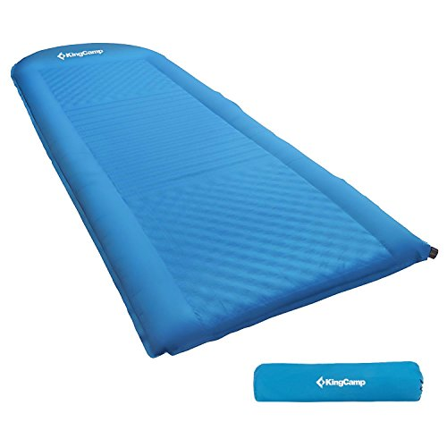 KingCamp Self Inflating Sleeping Pad Lightweight Foam TPU Coating Padding Mat Bed Damp-proof Built-In Pillow for Camping Hiking and Outdoor Activities