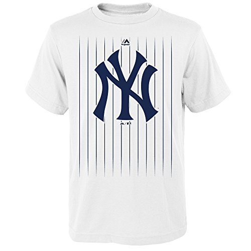(Outerstuff Gary Sanchez New York Yankees #24 MLB Youth Pinstripe Player T-shirt White (Youth X-Large)