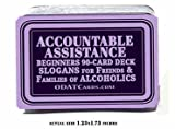 12-Step Recovery Slogans 90-Card Deck for Newcomers Al-Anon, Alcoholics Anonymous, Family Support Nar-Anon, Addiction and Alcoholism Help