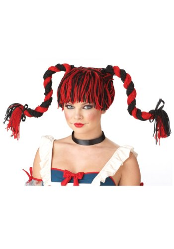 California Costumes Rag Doll Wig Red/Black One Size Fits Most -