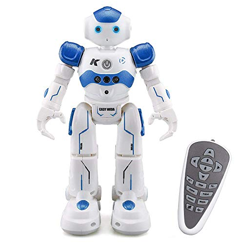 ECLEAR Remote Control RC Robot, Jjrc Cady Smart Programming Gesture Sensing Robotics Humanoid Robots Kit Toys Present for Kids Preschooler Entertainment Blue ()