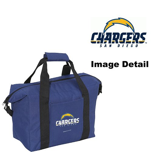 - San Diego Chargers 12-Pack Sports Drink Beer Water Soda Beverage Can Bottle Insulated Picnic Outdoor Party Beach BBQ Kooler Cooler Bag
