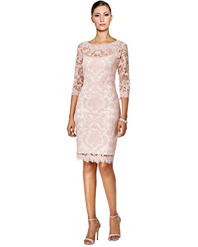 Tadashi Shoji Lace 3/4 Sleeve Sheath Cocktail Dress