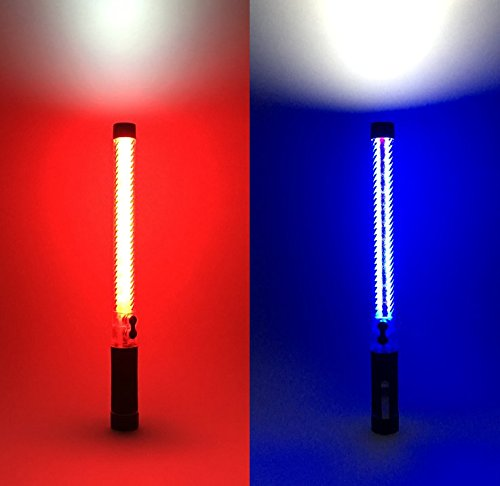 High Durability Over 2000LB 16 Inch Traffic Safety Baton Self Defense Weapon 2 Color 5 Motion Light Good gift!