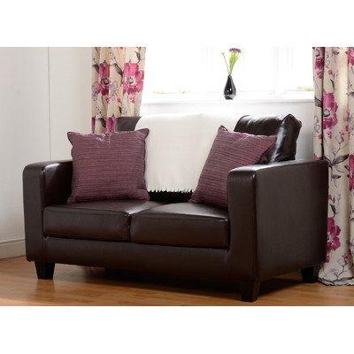 Tempo 2-Sitzer Sofa, PU-Leder, Polsterung: Espresso-Braun