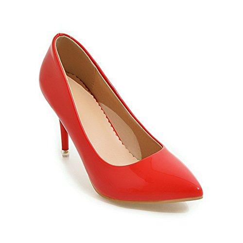 Balamasa Mujeres Winkle Pinker Low-cut Uppers Stiletto Cuero Imitado Bombas-zapatos Rojo