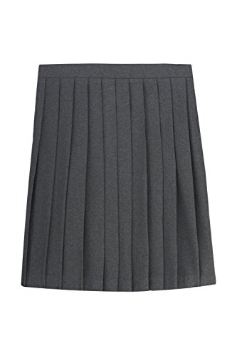 French Toast Big Girls' Pleated Skirt, Grey, 10 by French Toast