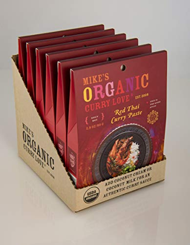 Red Thai Curry Paste ORGANIC   case of 6 x 2.8 oz pouches