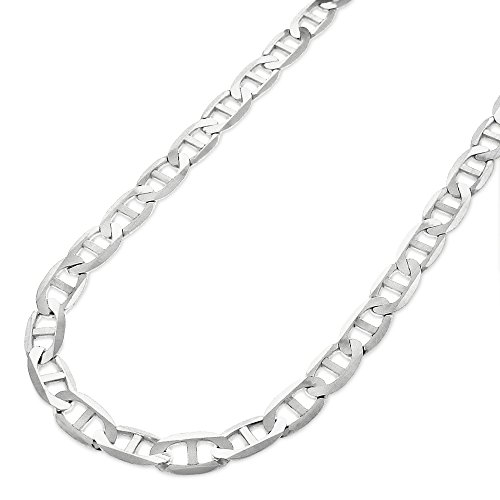 Sterling Silver Italian 5.5mm Mariner Anchor Link ITProLux Solid 925 Flat Necklace Chain 16