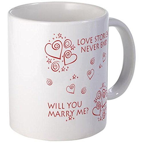 CafePress - Will You Marry Me? Mug - Unique Coffee Mug, 11oz Coffee Cup (Marry Me Coffee Cup compare prices)