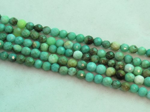 BRCbeads Green Chrysoprase Beads Gemstone 4mm Facted Round 15.5