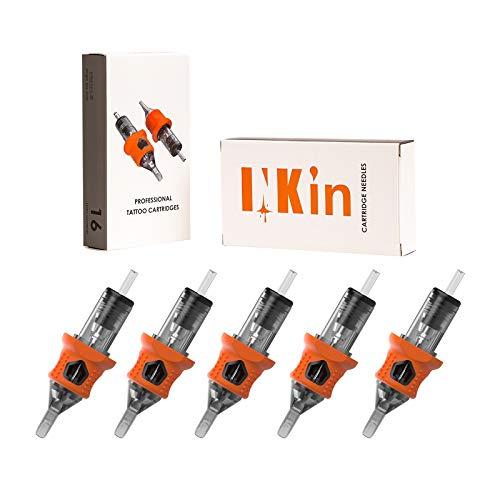 INKin 80Pcs Mixed Soft Silicone Tattoo Cartridge Needles 5M1 7M1 9M1 11M1 15M1 0.35mm Standard Magnum Assorted for Tattoo Machine Supply (Color: Orange, Tamaño: #12-5M1/7M1/9M1/11M1/15M1)