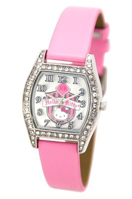 Hello Kitty Kids Coat Of Arms Pink Strap Watch 24681