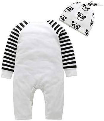 Fairy Baby 2pc Infant Baby Boy Girl Cotton Pajamas Set Panda Footie Sleep Play Romper