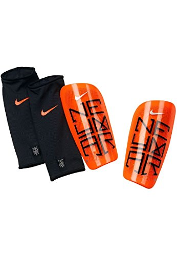 Chrome Soccer Shin Guards (Nike Neymar Mercurial Lite Soccer Shin Guards (Atomic Orange) (Large))