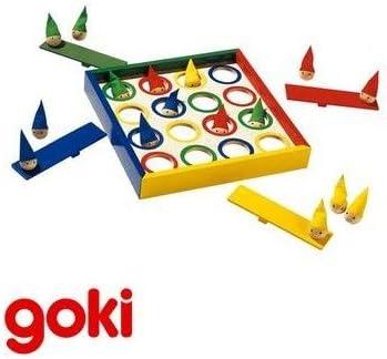 Goki Juego de mesa DUENDES SALTARINES de madera y 4 colores Juego ...