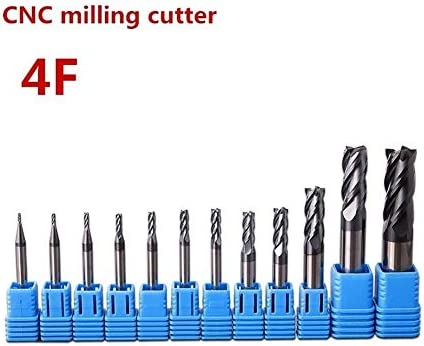 Boring Bar Holder End Mill 4mm 6mm 8mm 10mm 12mm 4 Slot Lengthening High Strength Tungsten Steel Milling Cutter CNC Carbide Coated Metal End Mill (Dimensions : 12xD12X150L)
