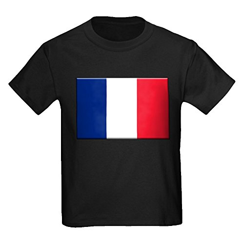 (Truly Teague Kids Baseball Jersey Flag Of France - Navy/White, Large (14-16))