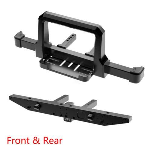- FidgetGear CNC Aluminum Front & Rear Winch Bumper Set for 1/10 RC Crawler Traxxas TRX-4 Front + Rear